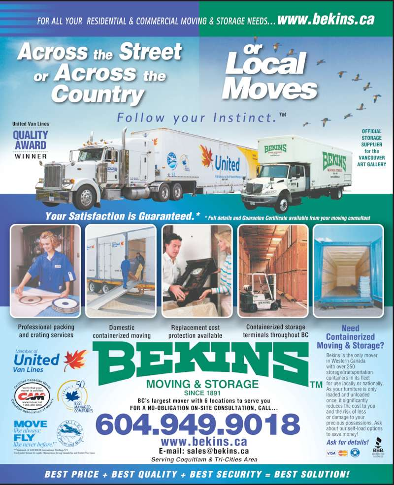 Bekins Moving Amp Storage Canada Ltd 14251 Burrows Road