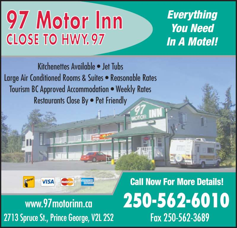 97 Motor Inn Prince George Bc 2713 Spruce St Canpages