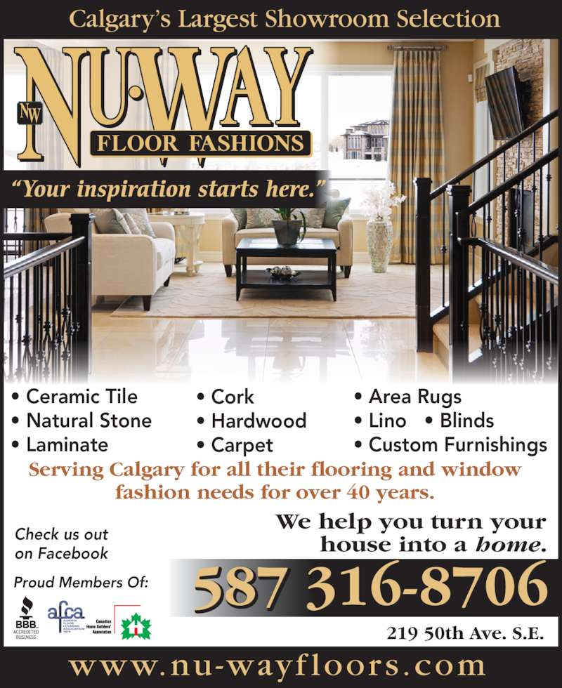 Nu-Way Floor Fashions Ltd - Calgary, AB - 219 50 Ave SE : Canpages