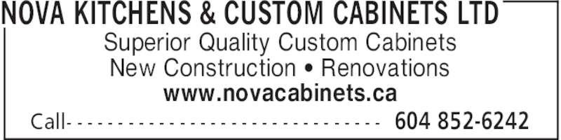 Nova Kitchens Custom Cabinets Ltd