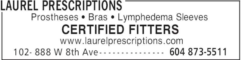 Laurel Prescriptions (604-873-5511) - Annonce illustrée======= -