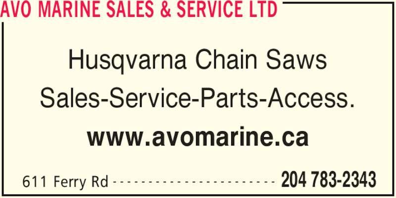 Boat Dealers Edmonton >> AVO Marine Sales & Service Ltd - Winnipeg, MB - 611 Ferry Rd | Canpages