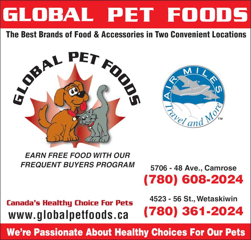 Global Pet Foods (780-608-2024) - Annonce illustrée======= -