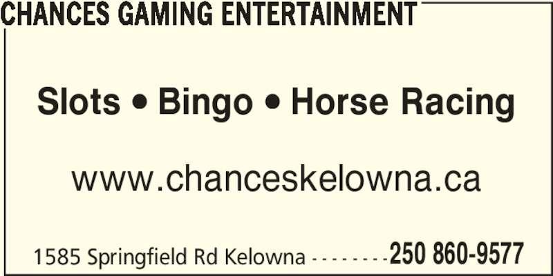 Chances Bingo Kelowna