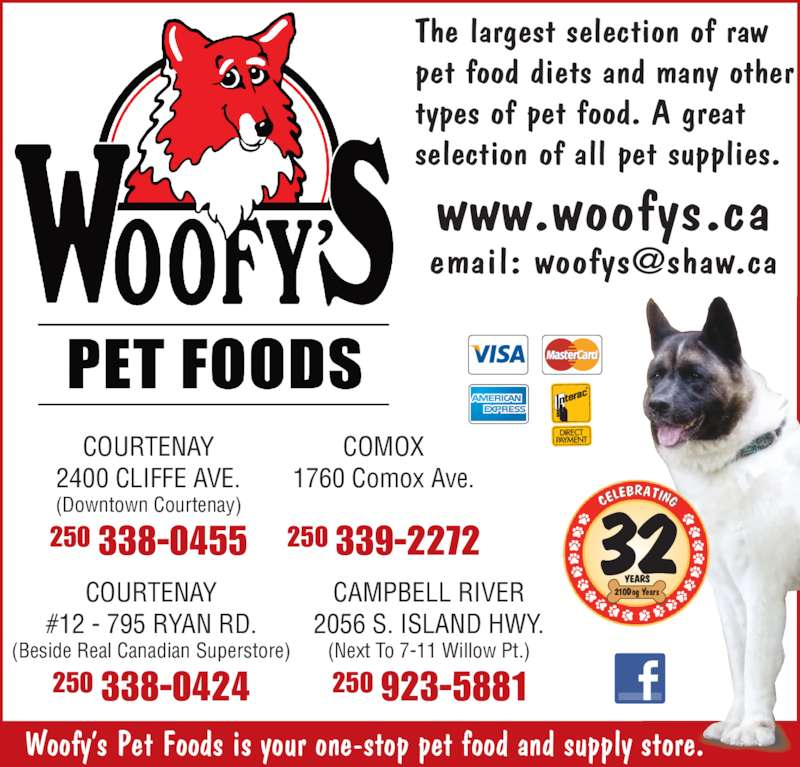 Woofy S Pet Foods Courtenay Bc
