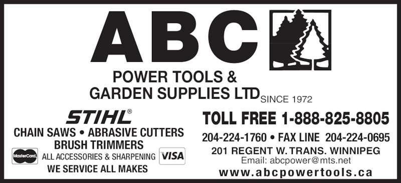 a b c power tools - winnipeg  mb