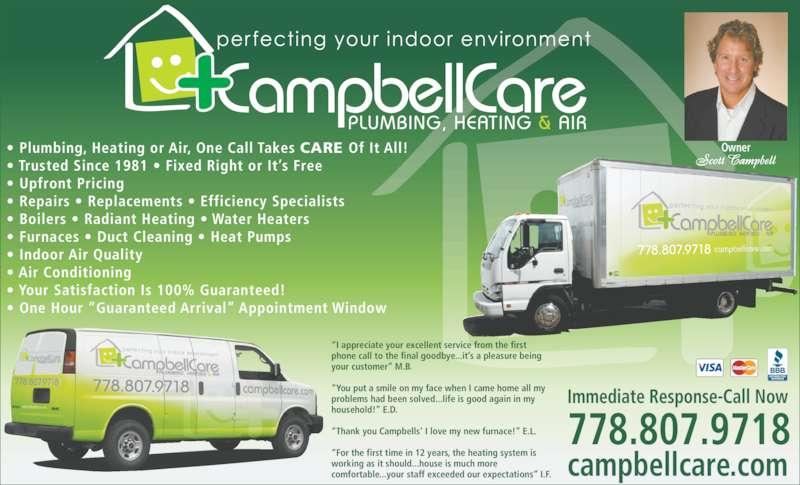Campbellcare Plumbing Heating Amp Air