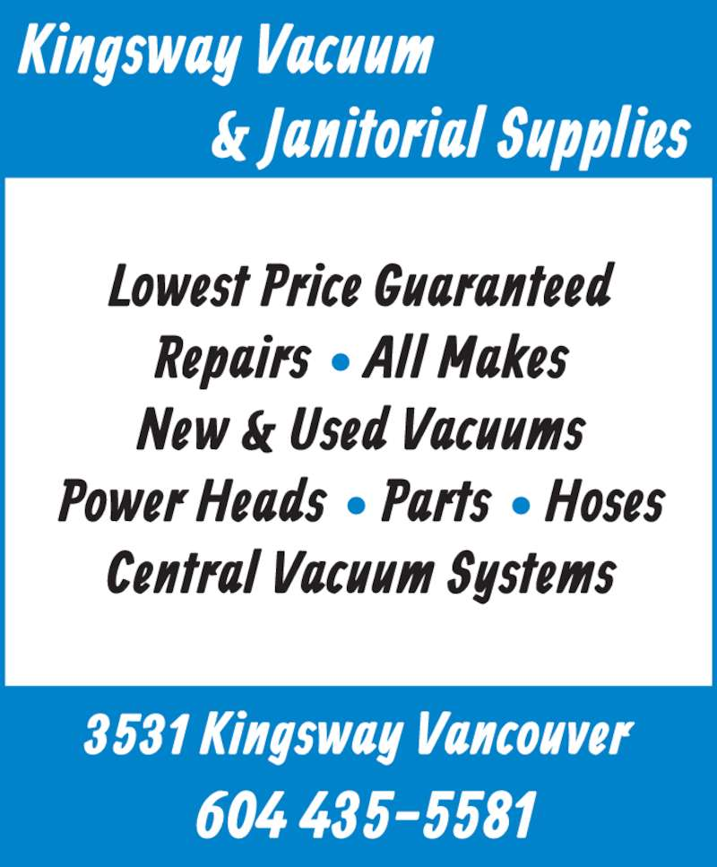 Ads Kingsway Vacuum Sales & Service Ltd