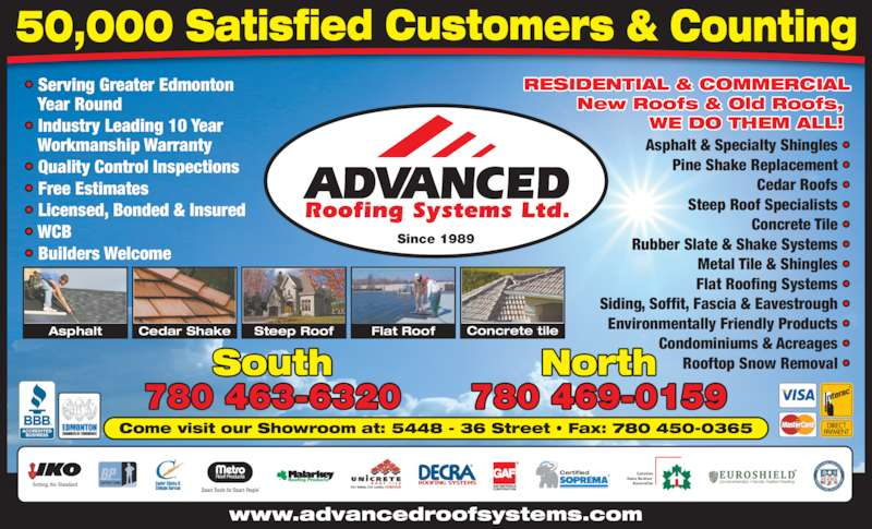 Advanced Roofing Systems Ltd Opening Hours 5448 36 St