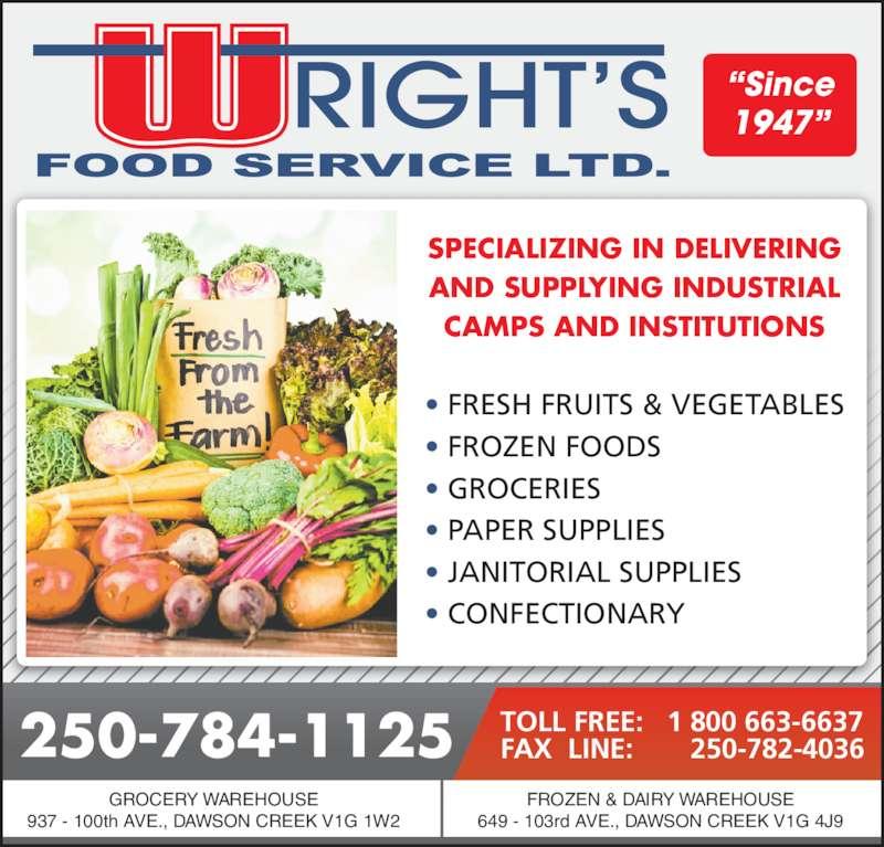 Wright Food Service Dawson Creek