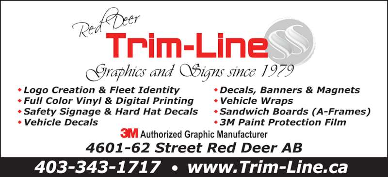 Trim-Line Of Central Alberta Ltd (403-343-1717) - Display Ad -