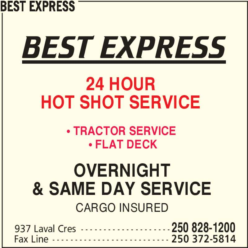 Best express kamloops bc 937 laval cres canpages for 5 mariner terrace postal code