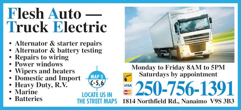 Automotive Electrical Wire Locator : Flesh auto truck electric repairs opening hours