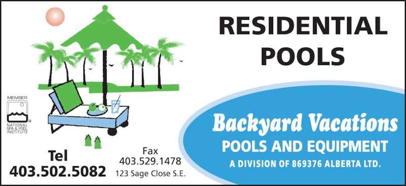 backyard vacations pools equipment medicine hat ab 123 sage