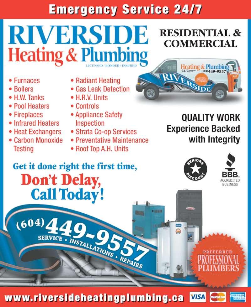 Riverside Heating Amp Plumbing Opening Hours 204 20445
