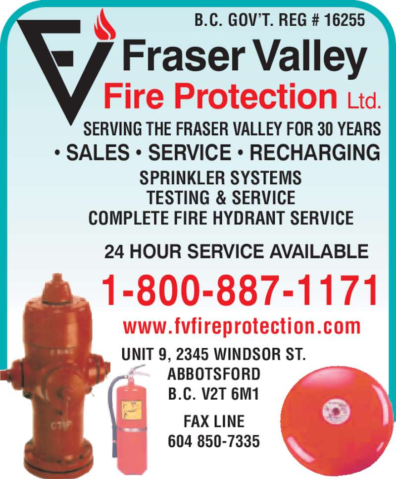 Fraser Valley Fire Protection Ltd Abbotsford Bc 31414