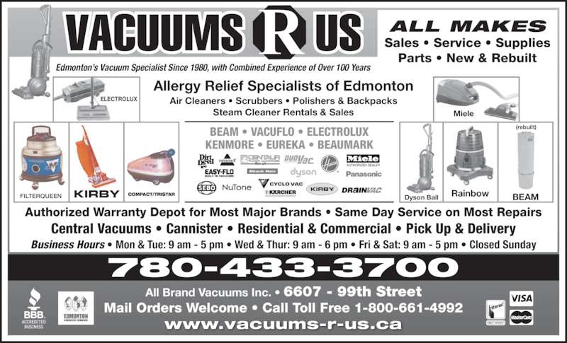 Vacuums R Us Opening Hours