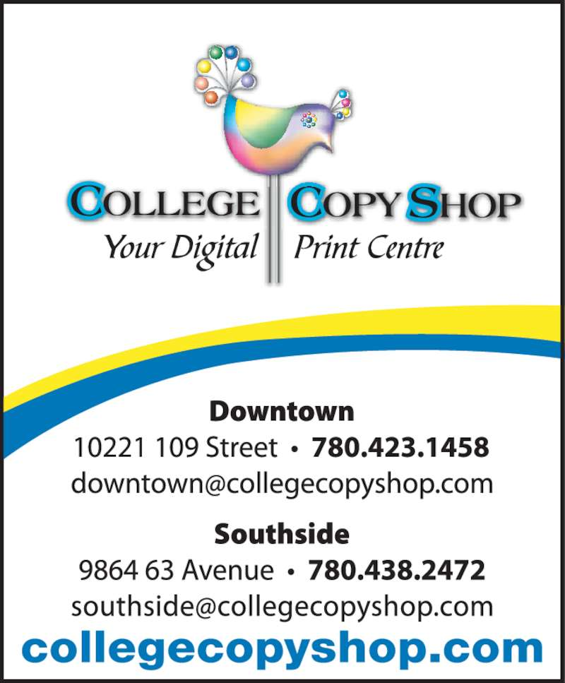 College Copy Shop (780-423-1458) - Display Ad -