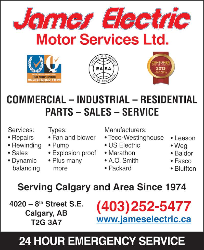 James Electric Opening Hours 4020 8 St Se Calgary Ab
