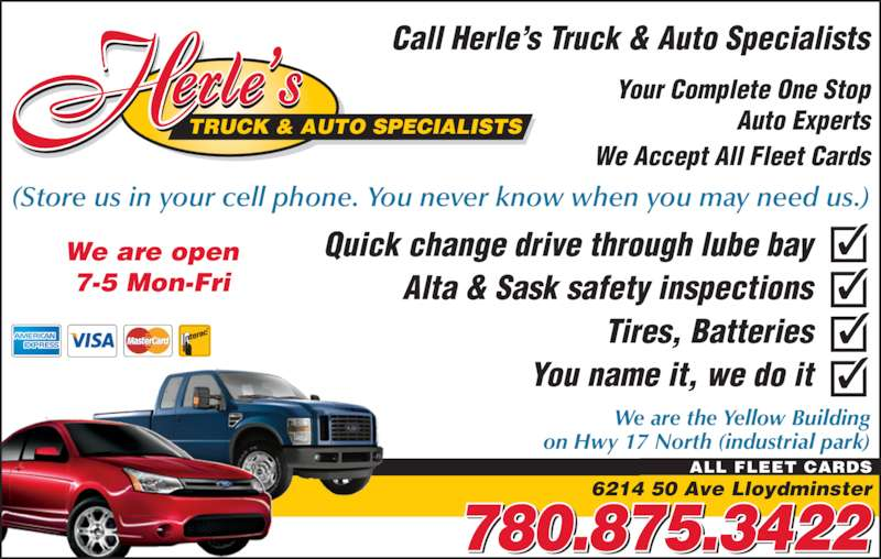 Lube bay alta amp sask safety inspections tires batteries you name it