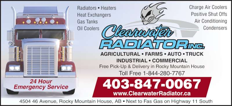 Clearwater Radiator Inc (403-845-7708) - Annonce illustrée======= -