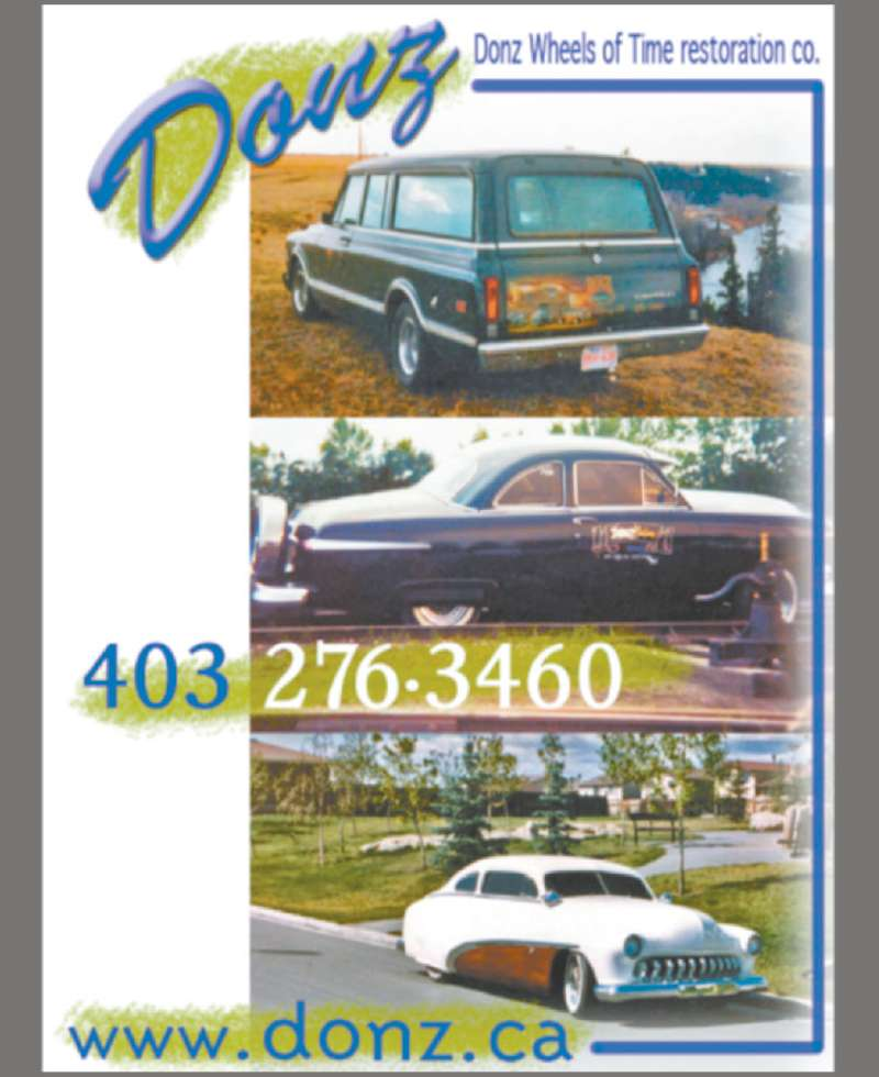 Donz' Wheels Of Time Restoration (403-276-3460) - Display Ad -