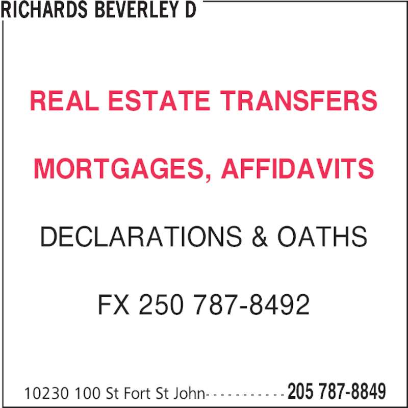 Ads Beverley D Richards Notary Corp