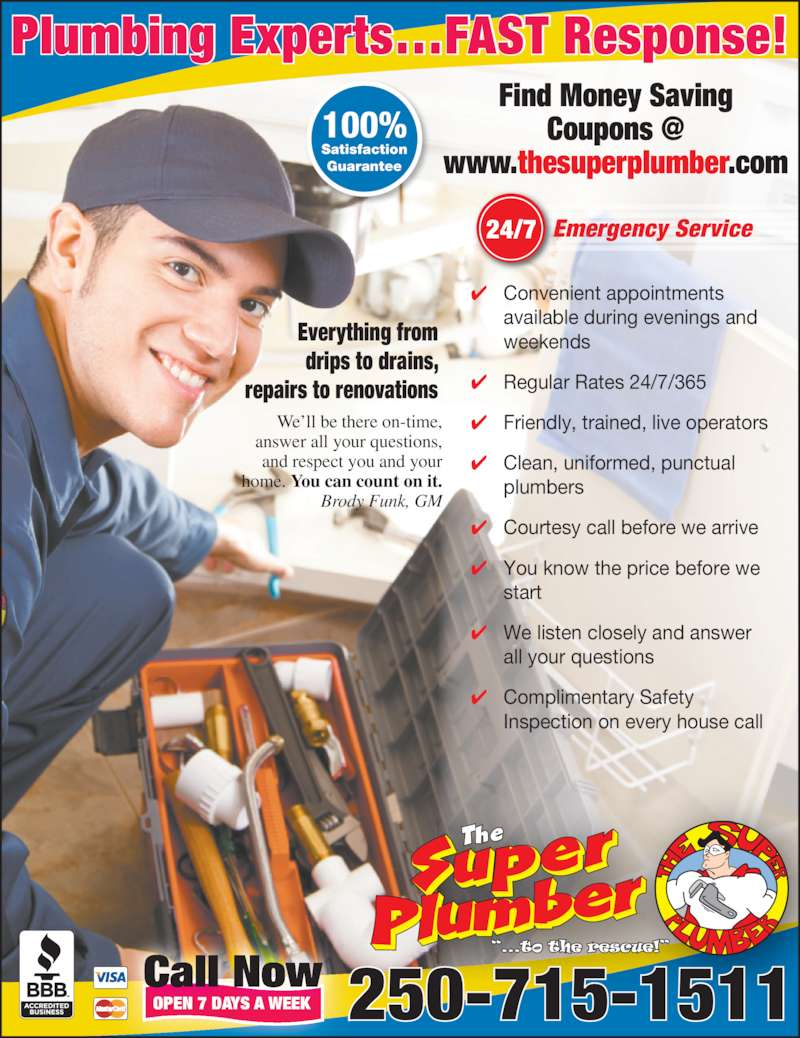 The Super Plumber Opening Hours