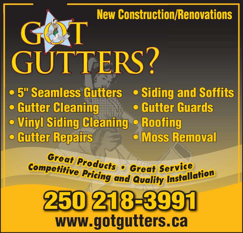 Got Gutters Comox Bc 400 Forester Ave Canpages