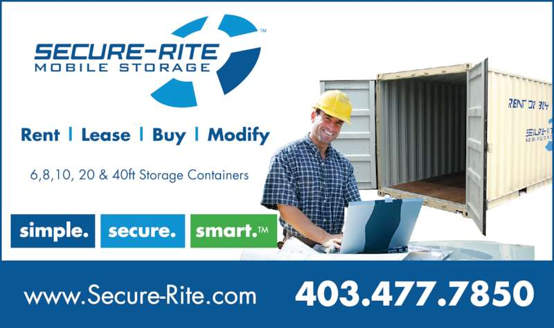 Secure-Rite Mobile Storage (403-477-7850) - Display Ad -