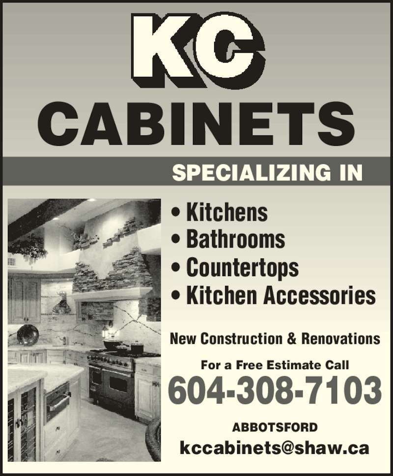 Kc cabinets canpages for California kitchen cabinets abbotsford