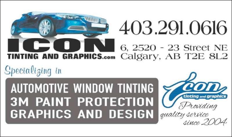 Icon Tinting & Graphics (403-291-0616) - Display Ad -