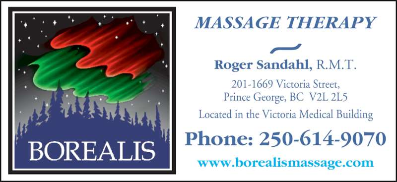 Borealis Massage Therapy Clinic (250-614-9070) - Display Ad - MASSAGE THERAPY~