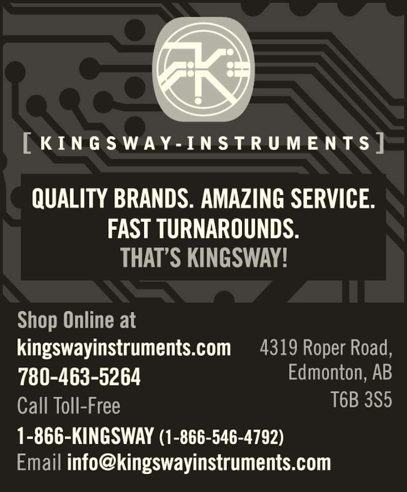 Kingsway Instruments (780-463-5264) - Display Ad - 780-463-5264