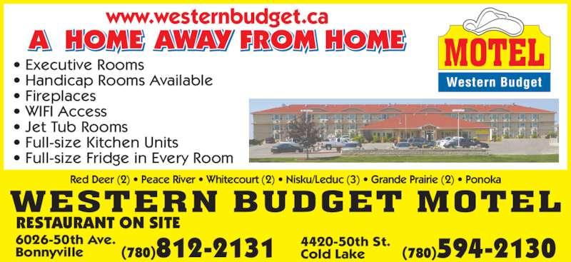Western Budget Motel Red Deer Ab
