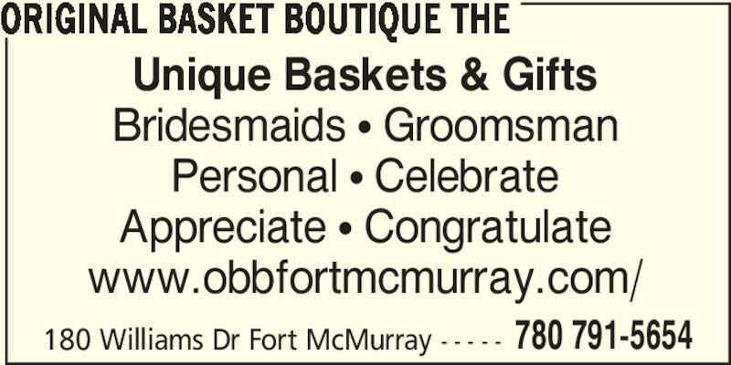 The Original Basket Boutique (780-791-5654) - Annonce illustrée======= -