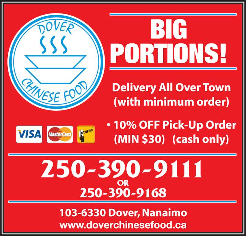 Chinese Food Delivery Nanaimo Bc