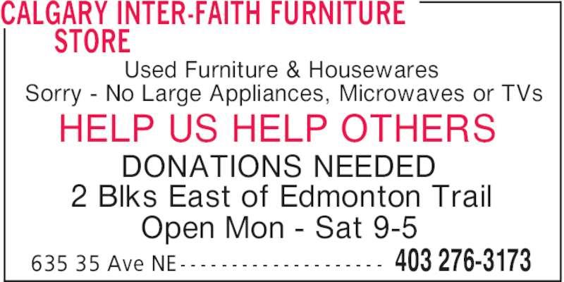 Calgary Inter Faith Furniture Store