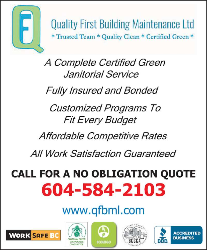 Quality First Building Maintenance Ltd Delta Bc 233