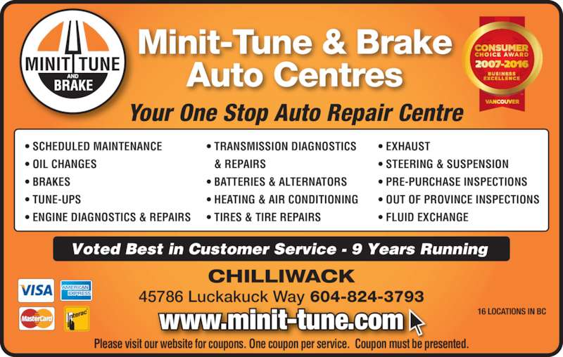 Minit tune brakes chilliwack bc 45786 luckakuck way canpages