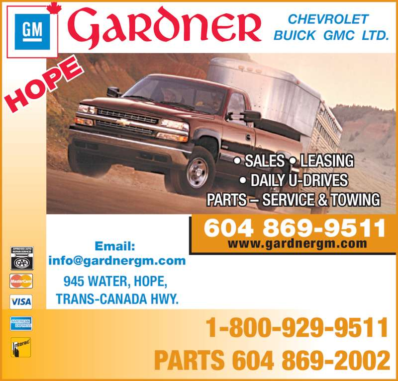 Joseph Buick Gmc Lease Offers: Gardner Chevrolet Buick GMC Ltd.