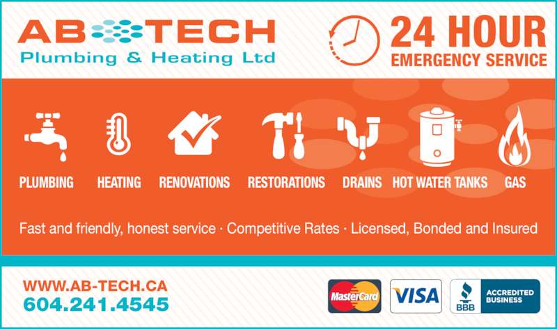 Ab Tech Plumbing Amp Heating Ltd Opening Hours 8191