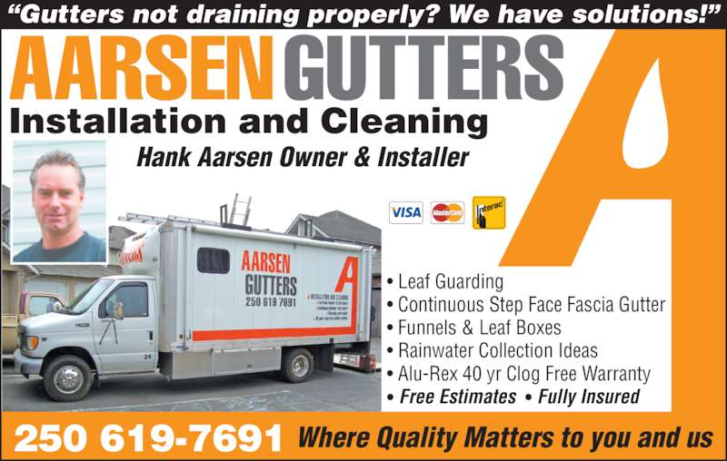 Aarsen Gutter Installation Amp Cleaning 1980 Lazy Susan Dr