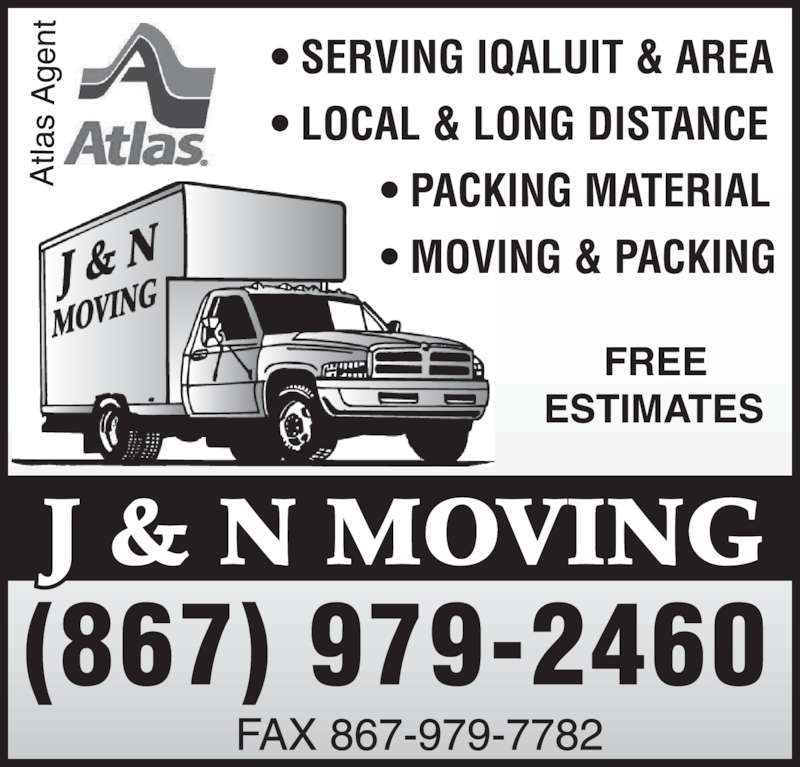 J & N Moving (867-979-2460) - Display Ad -