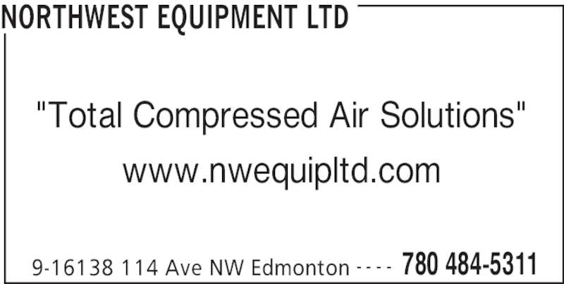 Northwest Equipment Ltd (780-484-5311) - Annonce illustrée======= -