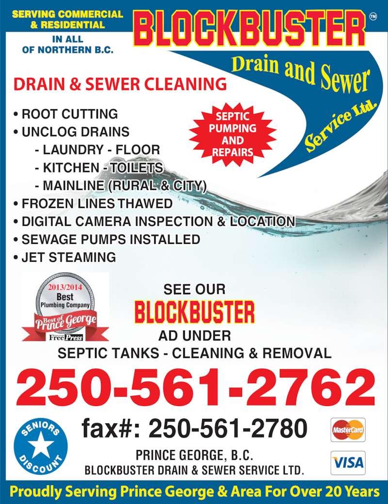 Blockbuster Drain Amp Sewer Service Ltd Opening Hours 12