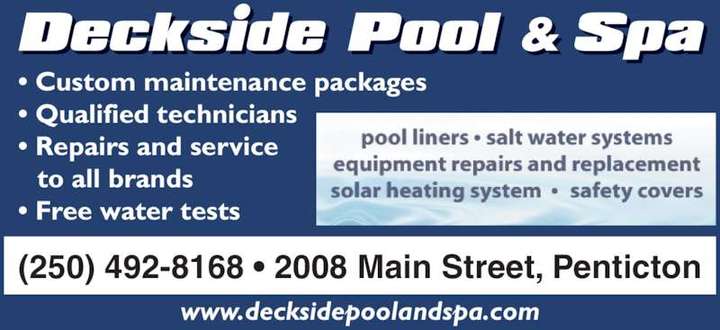 Deckside Pool And Spa Penticton