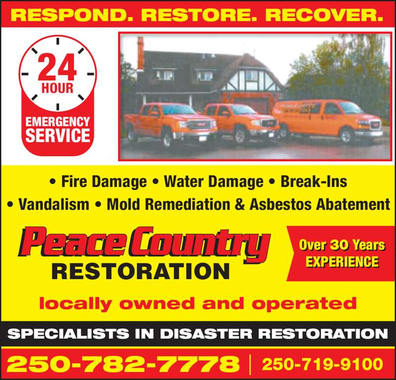 Peace country restoration dawson creek bc 1616 114th for 24 hour tanning salon near me