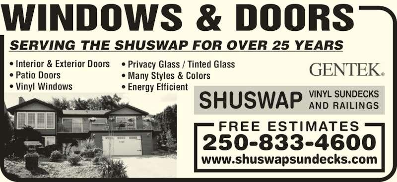 Shuswap Vinyl Sundecks And Railings Canpages