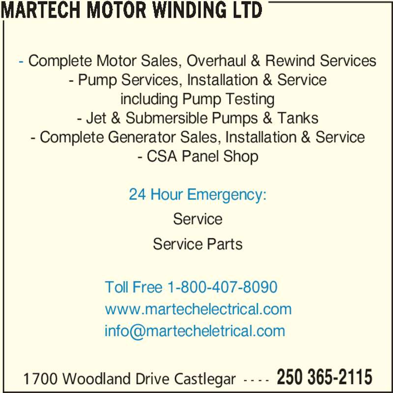 Martech Electrical Systems Ltd Opening Hours 1700